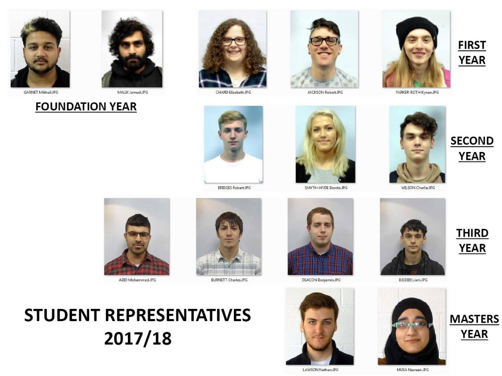 2017/2018 Student Representatives Gallery